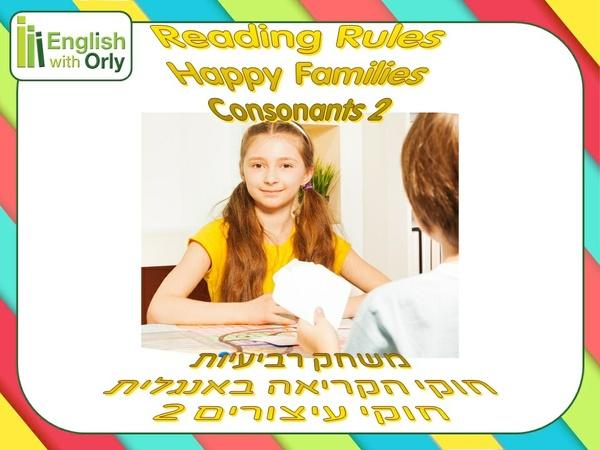 Reading Rules - Consonants 2 - חוקי הקריאה - חוקי עיצורים 2