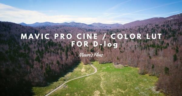 Mauro's Cine/Color LUT  D-LOG for MAVIC PRO/INSPIRE 2/PHANTOM 4/PHANTOM 4 PRO