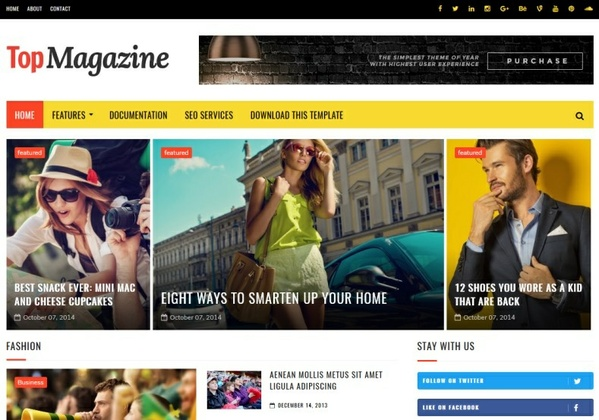 Top Magazine Blogger Template Premium Version