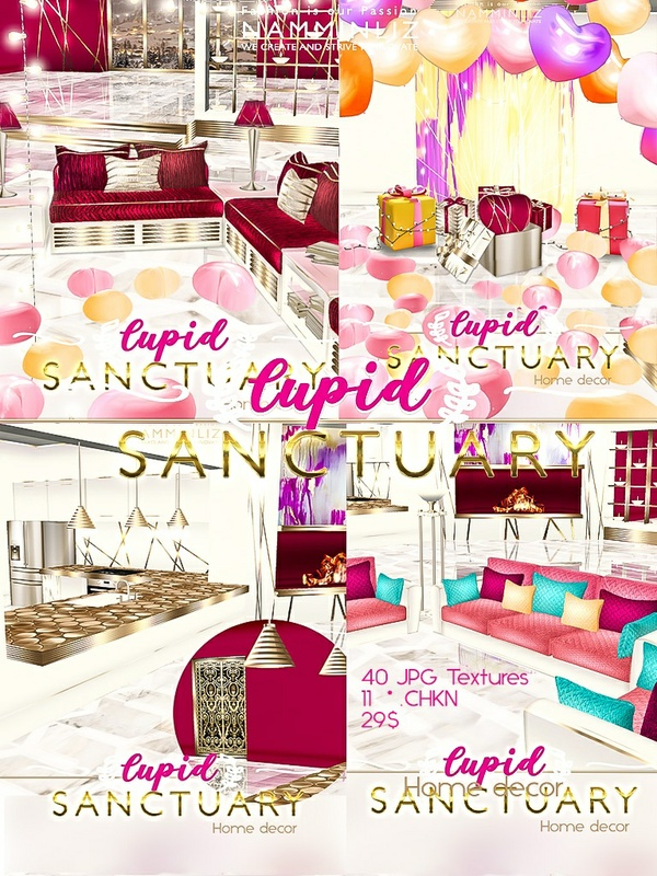 Cupid Sanctuary Home decor 40 JPG Textures & 11 *.CHKN filesale NAMMINLIZ imvu