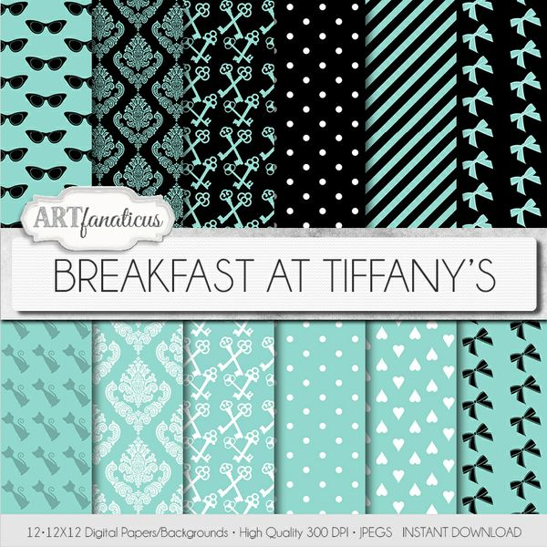 BREAKFAST AT TIFFANY'S - DIGITAL PAPER