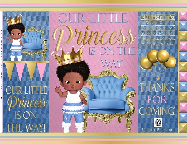 printable-chip-bags-royal-princess-pinkgold-african-baby-shower-1