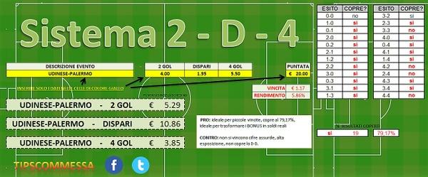 Sistema 2-D-4 (Metodo RACCOGLI BONUS)