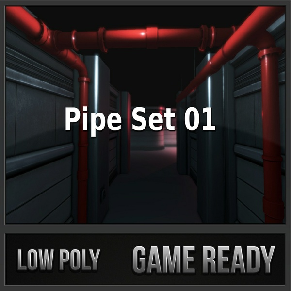 Pipe Set | 3D Low Poly Models