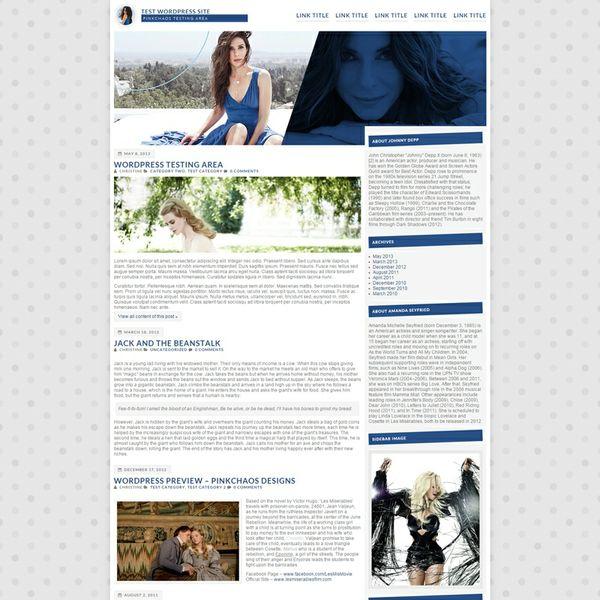 Slim Wordpress Theme