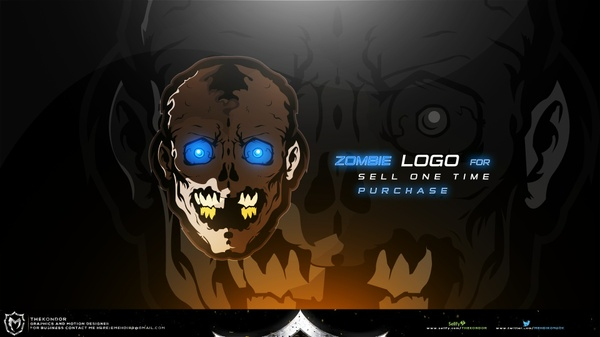 Zombie Logo For Sell One Time Purchase