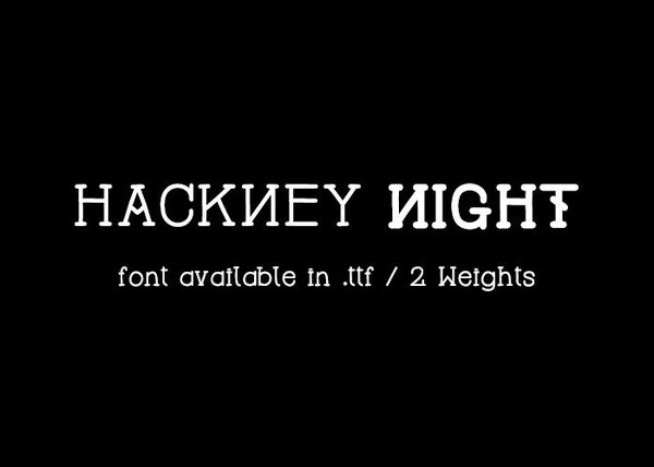 Hackney Night - font.