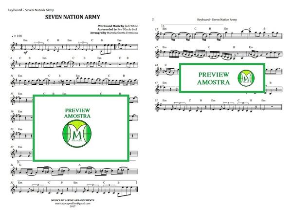 Seven Nation Army | Ben l'Oncle Soul | Keyboard or Violin | Download