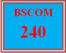 BSCOM 240 Week 2 Finding Information