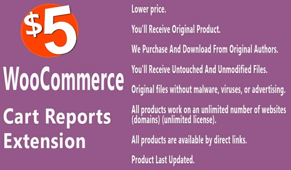 WooCommerce Cart Reports Extension