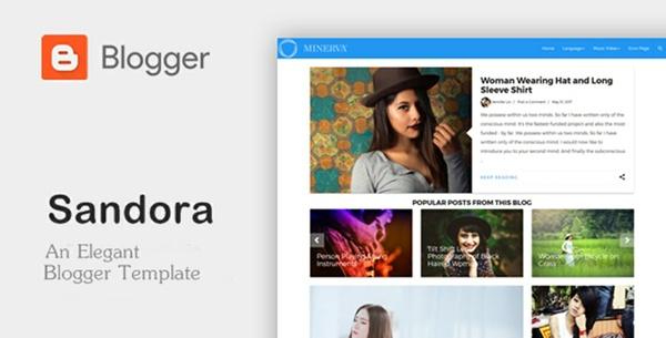 Sandora - An Elegant Responsive Blogger Theme
