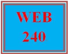 WEB 240 Week 4 Individual Virtual Organization Project, Part 3