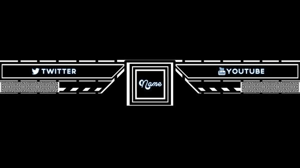 2D Black and White Youtube Banner Template