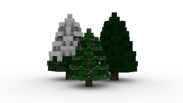 Minecraft Christmas tree rig | Cinema 4D