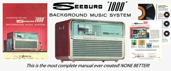 Seeburg 1000, Background Music System, BMU10, 1961, Engineer's Manual & Brochure