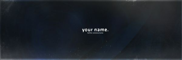 Clean Twitter Header Template 2015.