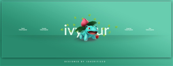 POKEMON GO: Ivysaur Twitter Header Template (PSD)