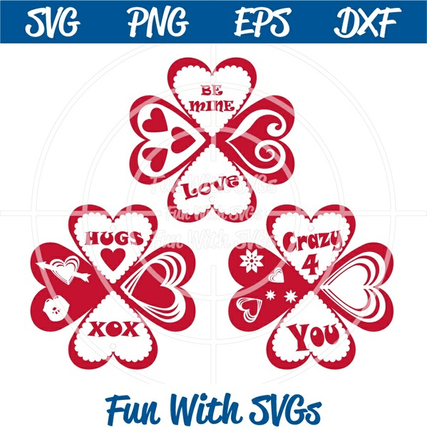 Heart Mini Album, Valentine's Day PNG, EPS, DXF and SVG Cut File, High Resolution Printable Graphics