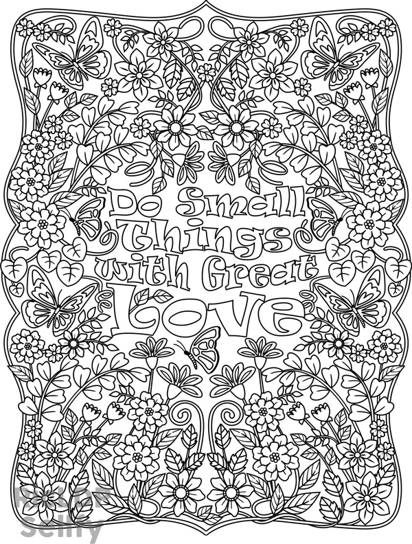 Do Small Things with Great Love Coloring Page
