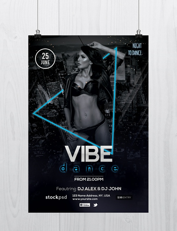 Vibe Dance - Free PSD Flyer Template