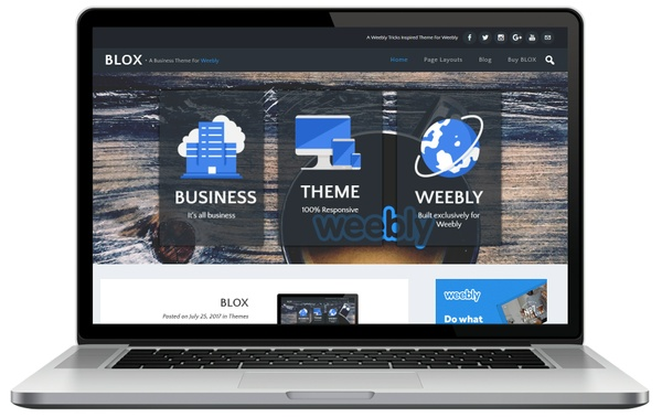 Blox Weebly Theme