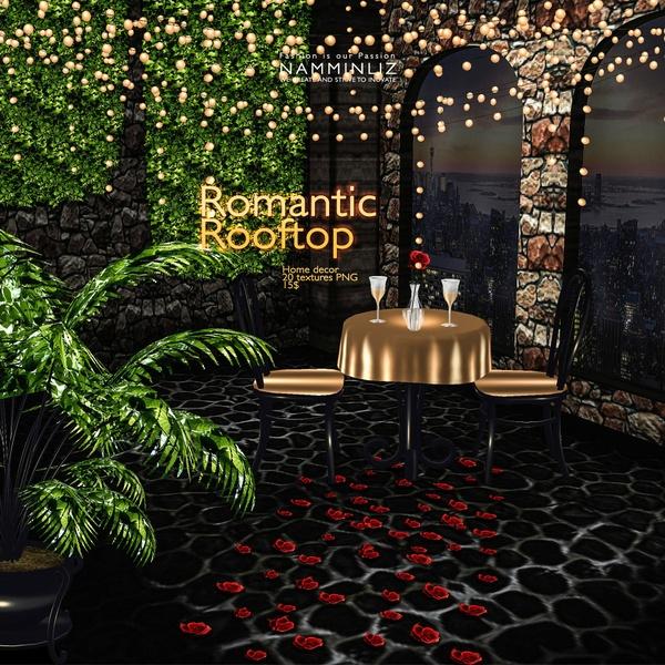 Romantic RoofTop imvu Home decor 20 Textures PNG