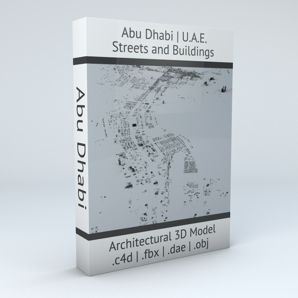 Abu Dhabi Streets and Buildings Architectural 3D Model