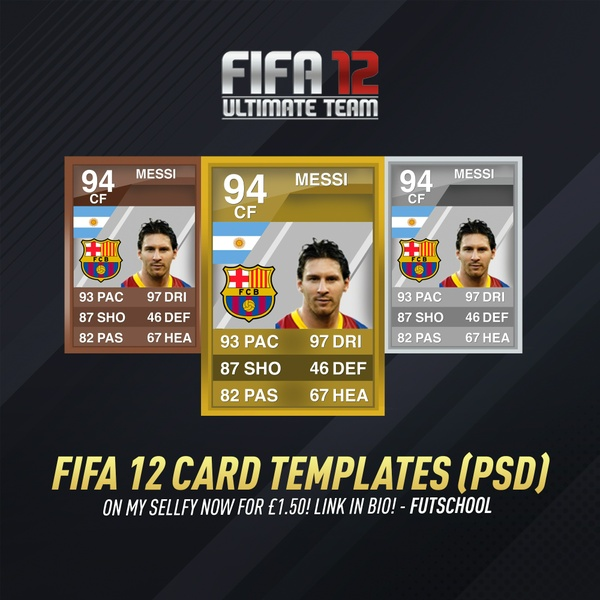 ULTRA HD FIFA 12 CARD TEMPLATES PSD (ALL