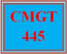 CMGT 445 Week 4 Participations