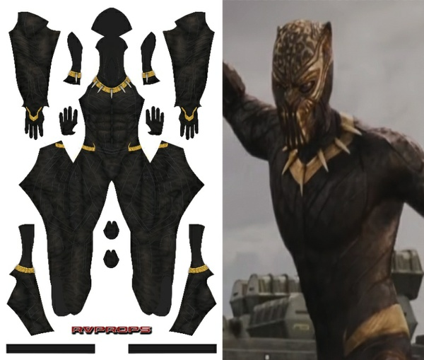 Killmonger (with golden parts)