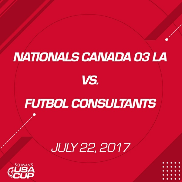 Boys U14 Gold - July 22, 2017 - Nationals Canada 03 LA vs Futbol Consultants