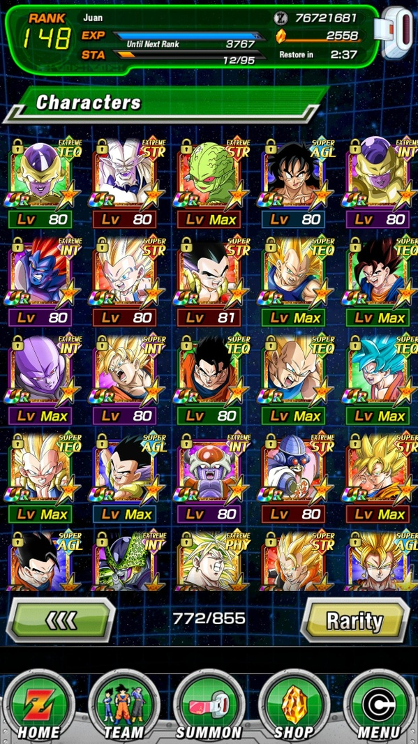 WTT: Full GOD Global lvl 128 Account with 2500+ stones