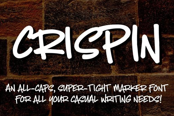 Crispin: a handwritten marker font!