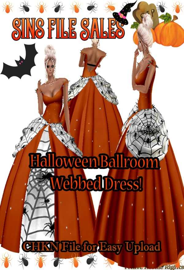 Halloween Freebie * Webbed Ballgown