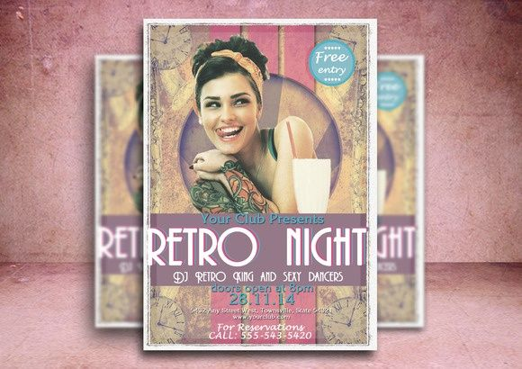 Retro Club - another flyer template