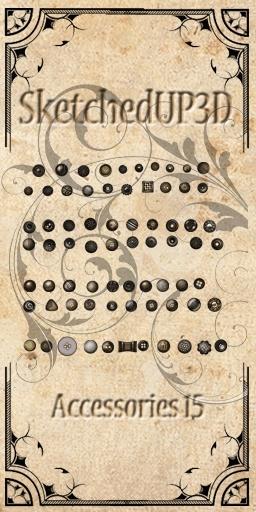 Accessories 15 - More Button Texture Bundle
