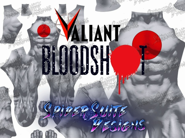 Valiant Comics Bloodshot 2017 Pattern
