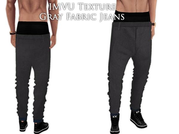 IMVU Texture - Gray Fabric Jeans