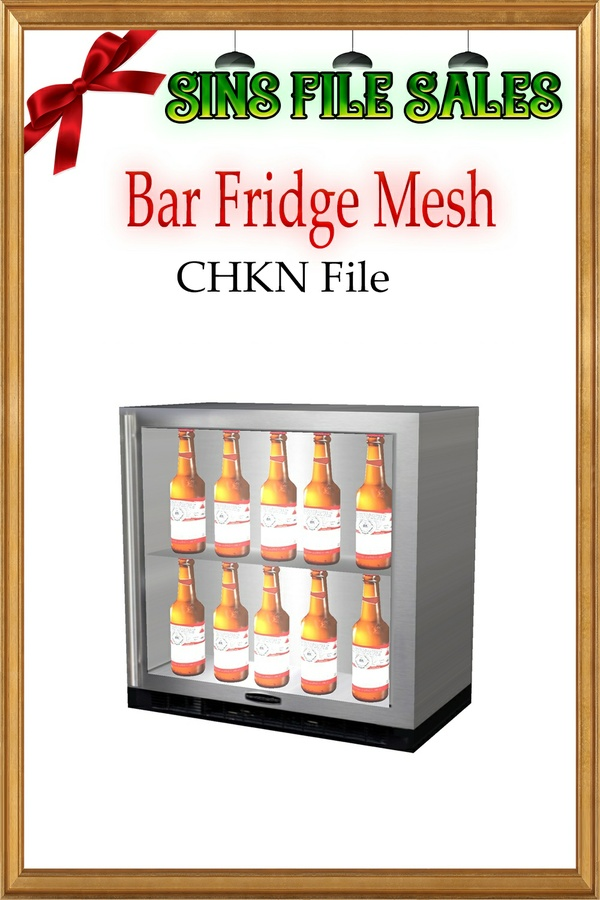 Bar Fridge with Bottles CHKN