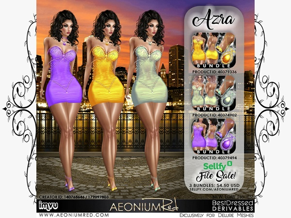 IMVU File Sale! Azra 3 Bundles Party Texture Pack