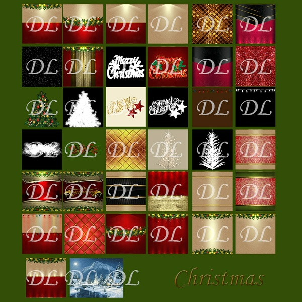 Pack 30 Textures Christmas