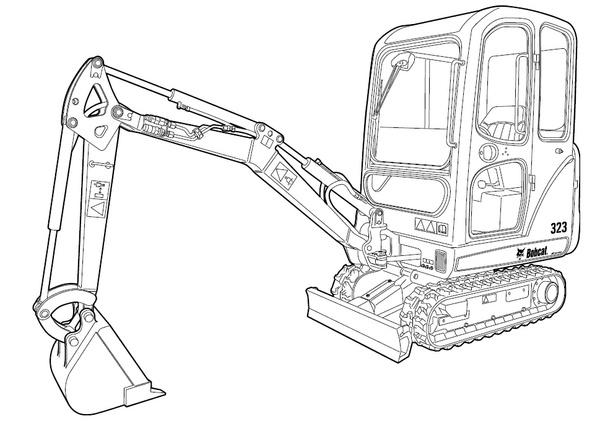 Bobcat 323 Compact Excavator Service Repair Manual Download S/N A9JZ11001 & Above