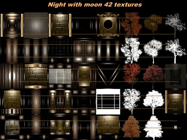 Night with moon 42 textures imvu   room