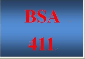 BSA 411Week 5 Learning Team Business System Analysis Methodology Paper