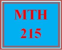 MTH 215 Week 5 MyMathLab® Final Examination