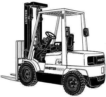 Hyster ForkLift Truck D177 Series: H2.00XM, H2.50XM, H3.00XM, H3.20XML Workshop Service Manual