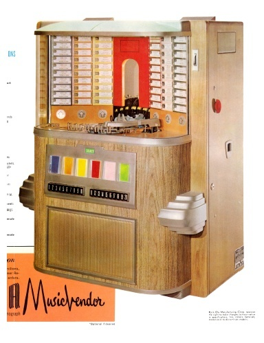 Rock-Ola  Music Vendor Model 1464 (1958) 4 page Brochure