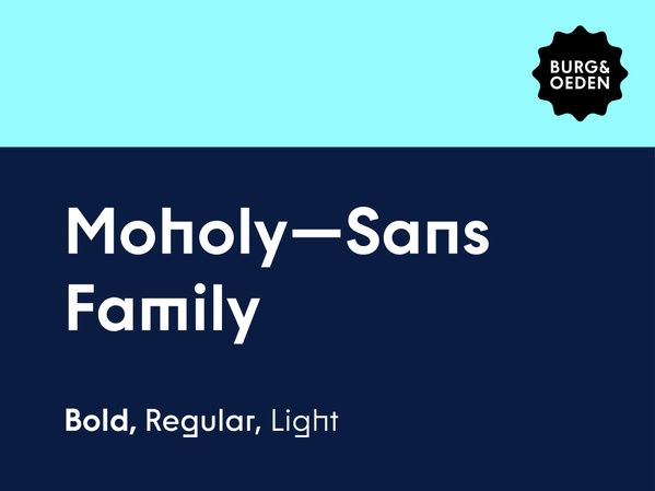 Moholy Sans Typeface / All weights