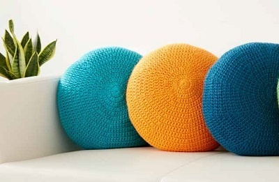 Crochet Circle Pillow