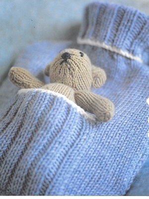 Hot Water Bottle Cover & Bear